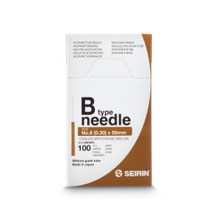 Seirin B Type No. 8 Dry Needling 0.30 x 50 mm