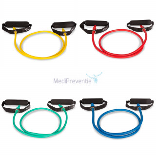 Fitness tubes mixed colour 4 stuks
