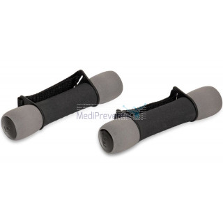 Soft grip dumbbells 1 kg set