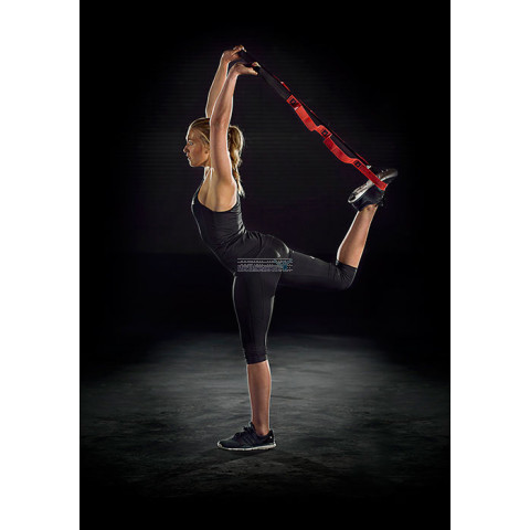 Stretch assist band ten behoeve van de lenigheid en flexibiliteit