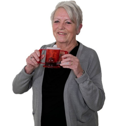 HandyCup Drinkbeker Able2 Rood Vrouw