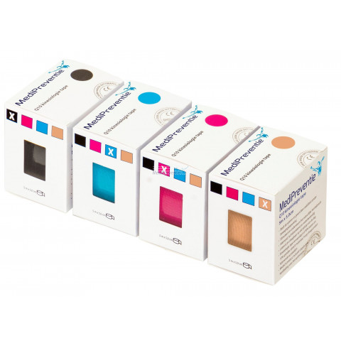 Kinesiologie tape mixed colour 24 stuks