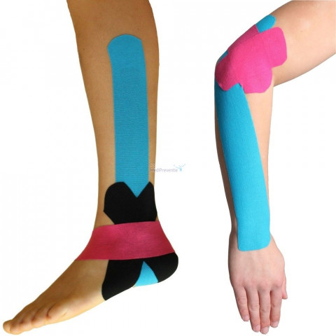 Kinesiology tape voet en arm