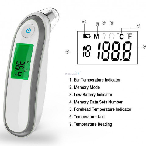 Titleg display infrarood thermometer